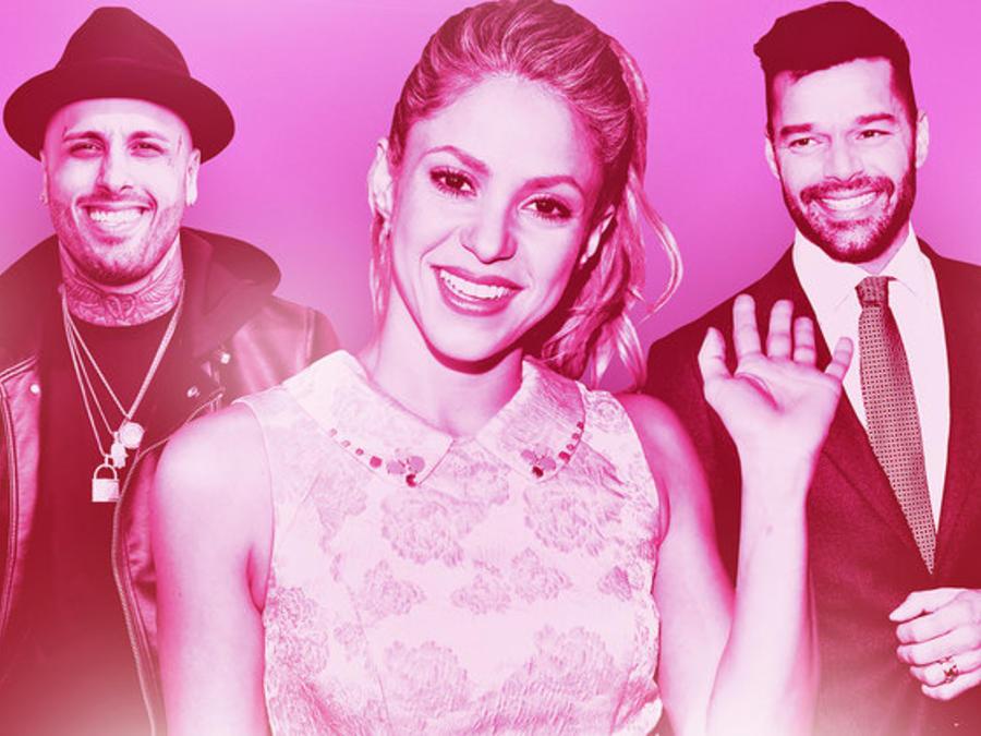 Nicky Jam, Shakira, Ricky Martin
