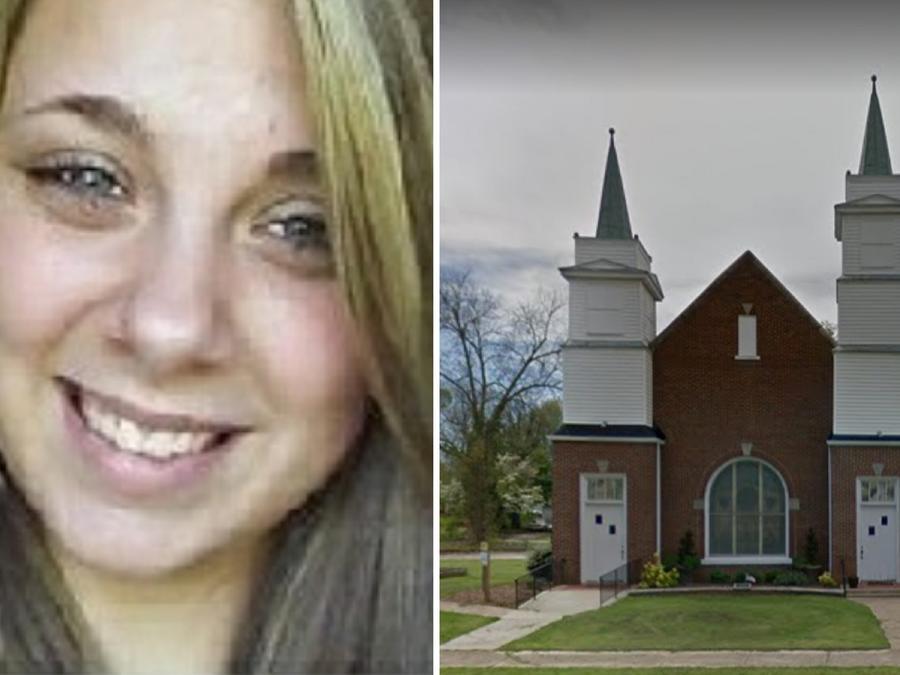 Kaylee Muthart se sacó los ojos frente a la capilla South Main en Anderson (Carolina del Sur)