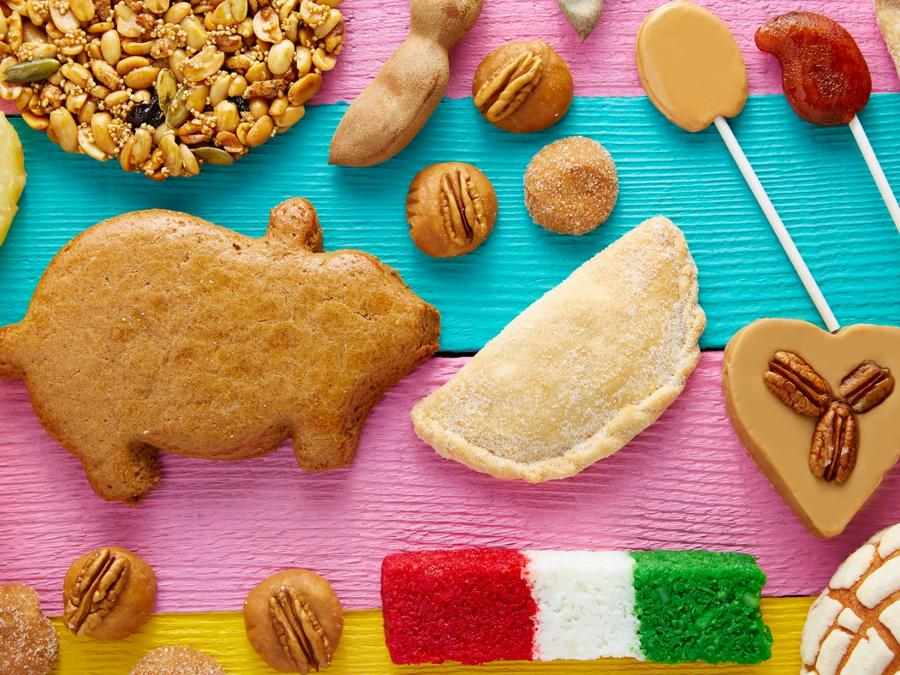 A variety of Mexican candies.