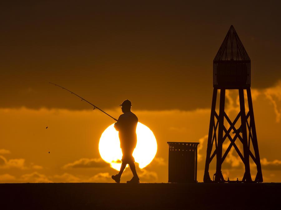 Pescador en Bal Harbour, Florida