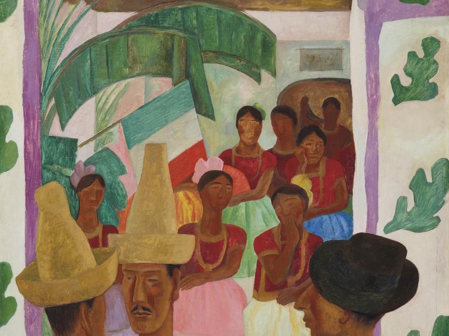 La pintura Los rivales, de Diego Rivera, en una imagen difundida por Christie's.