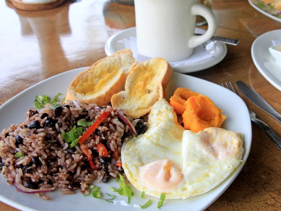 Costa Rican breakfast.