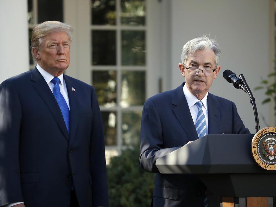 Jerome Powell speaks al momento de ser anunciado como candidato a presidente de la Reserva Federal por Donald Trump, el 2 de noviembre de 2017.