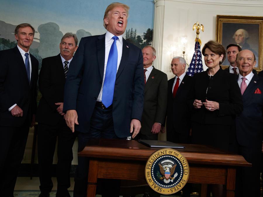 El presidente Donald Trump tarifas arancelarias a China, el 22 de marzo 2018.
