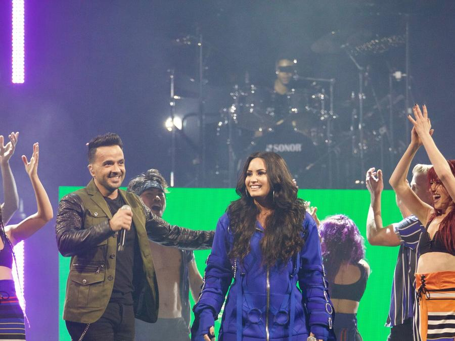 Luis Fonsi and Demi Lovato in Miami
