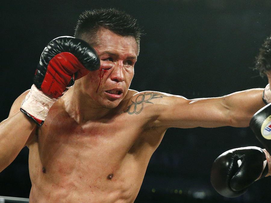 Francisco Vargas, en una imagen de archivo de un combate en 2015.