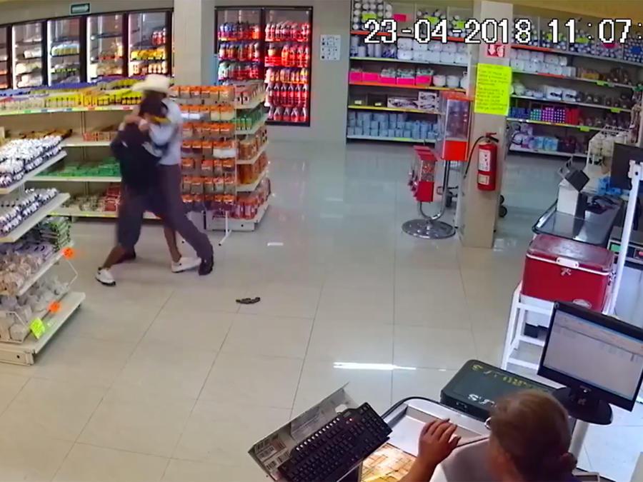 Ladron atrapado