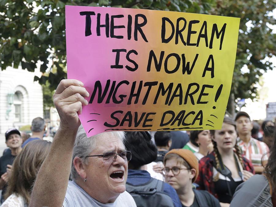 Una protesta a favor de mantener el programa DACA  el 15 de septiembre de 2017 en San Francisco.