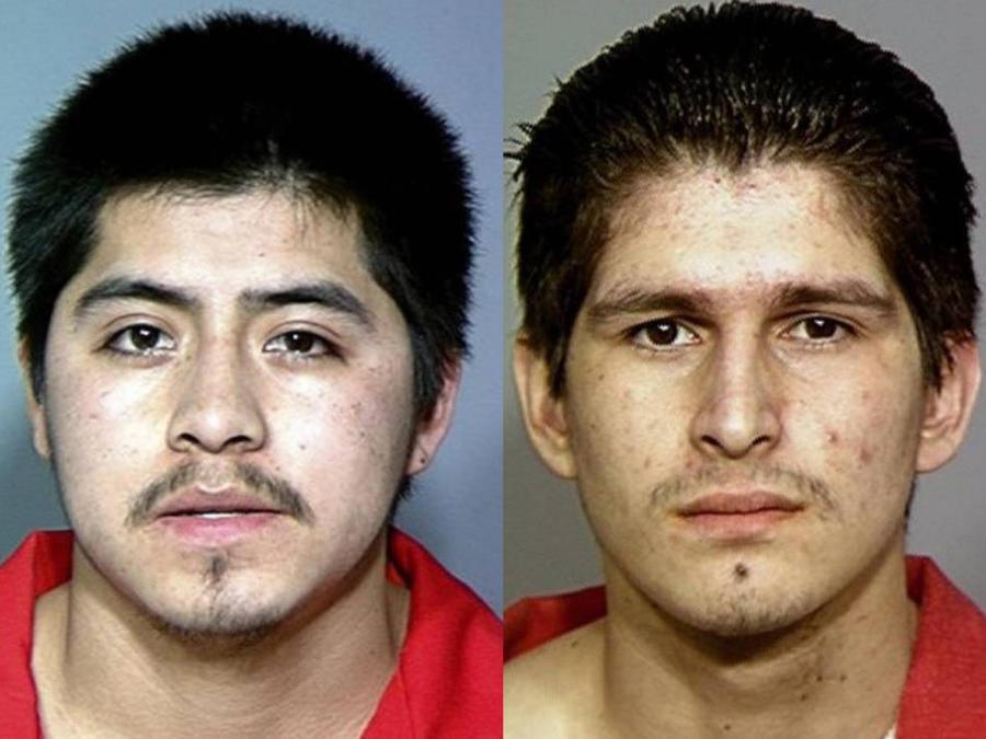 Edgar Octavio Barajas y Jesús Manuel Rodríguez, tras ser detenidos.