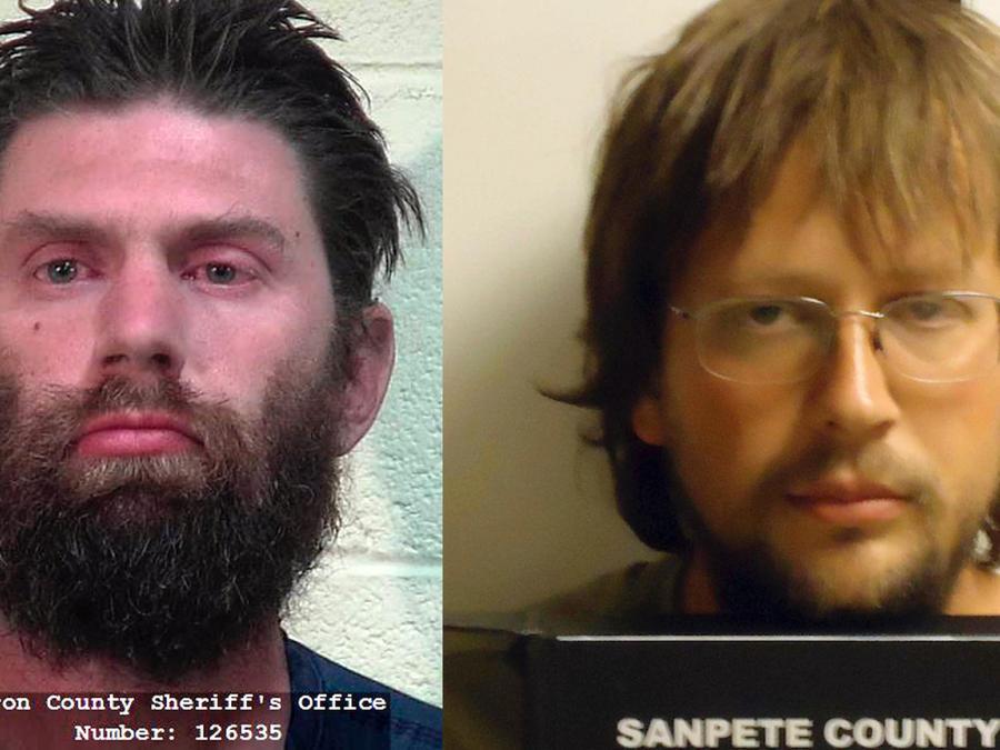 Shaffer (izquierda) y Coltharp, tras ser detenidos.