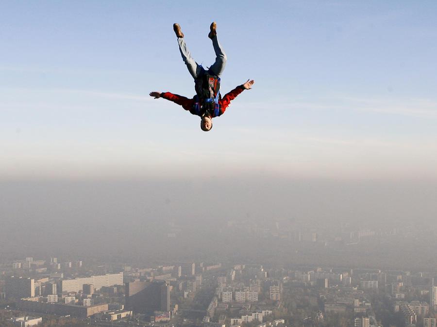 Un lanzamiento en paracaídas, en una imagen de archivo.