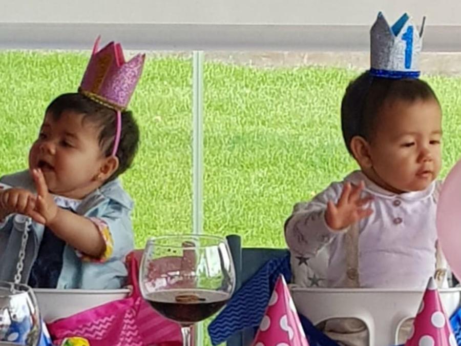 Los mellizos de Cristiano Ronaldo en su fiesta de cumpleaños