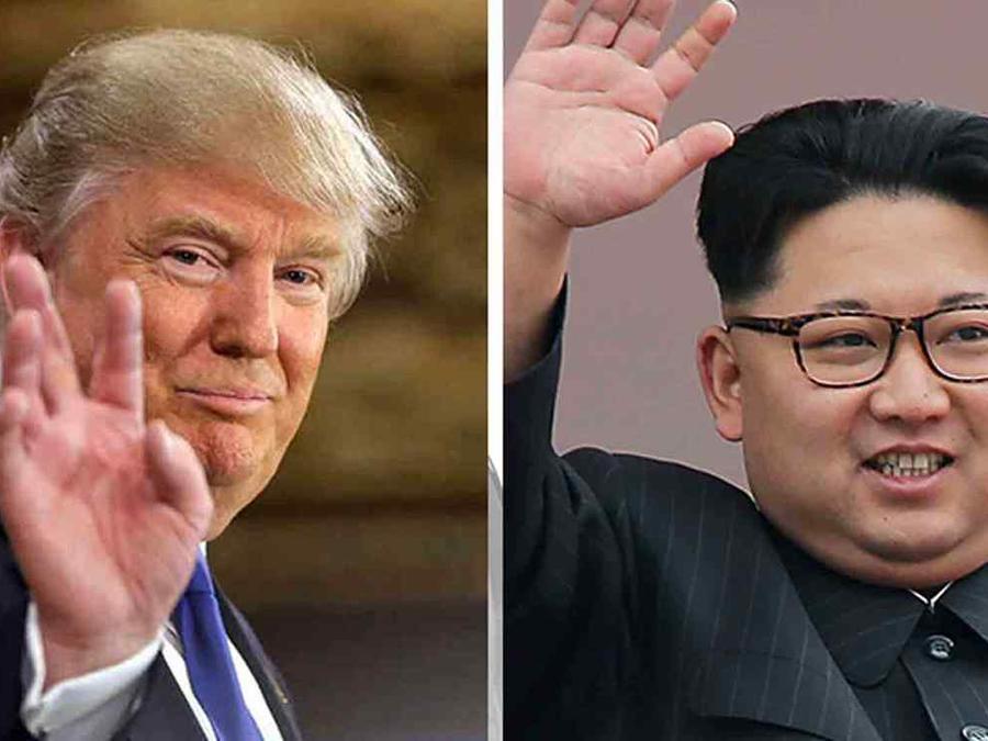 Donald Trump y Kim Jong Un en una foto de archivo.