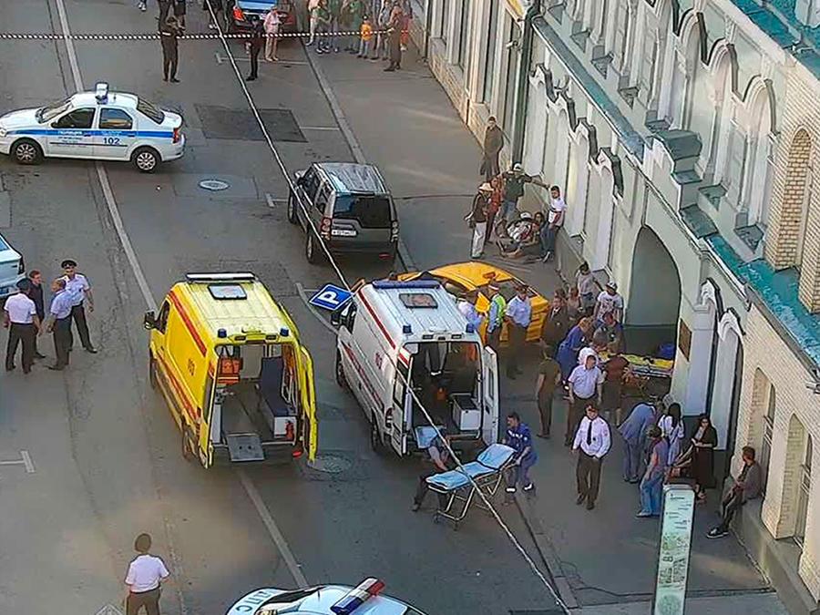 Imágenes de atropello masivo en Moscú