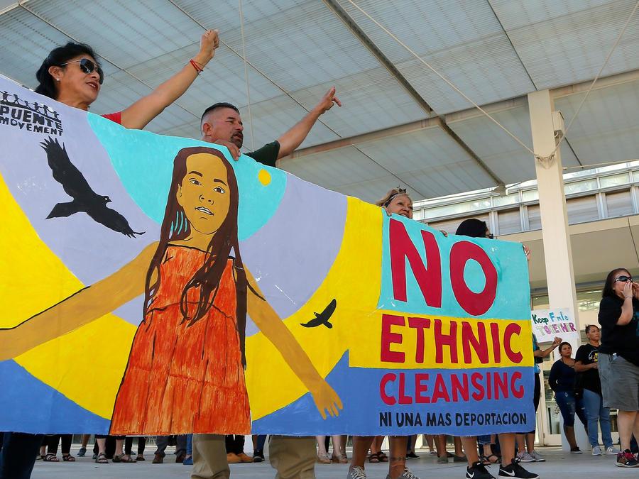 Protestas para evitar la deportación de niños migrantes