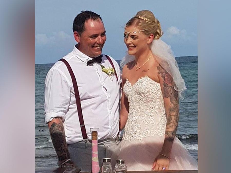 Andy Mitchell y su esposa Meaghan