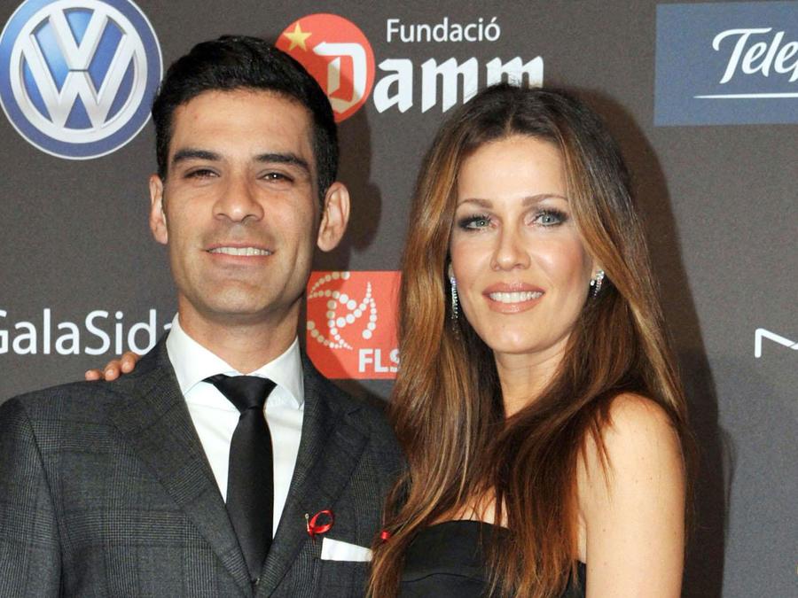 Jaydy Michel y Rafa Márquez en la Gala Against HIV en España