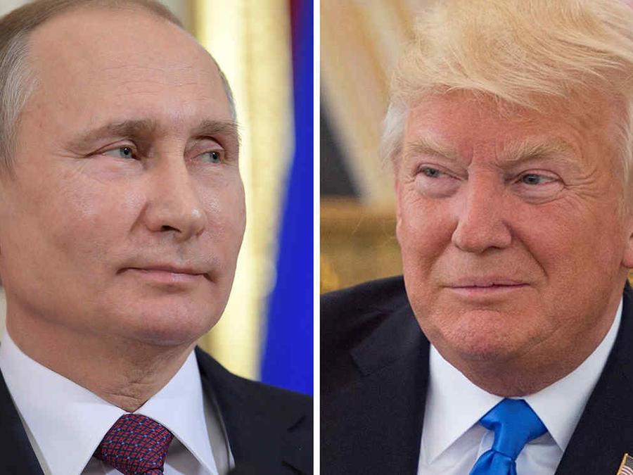Montaje fotográfico de los presidentes de Rusia y EEUU, Vladimir Putin y Donald Trump, respectivamente.