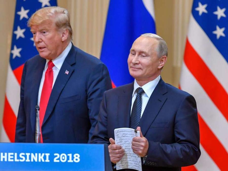 Los presidentes Donald Trump y Vladimir Putin en Helsinki.