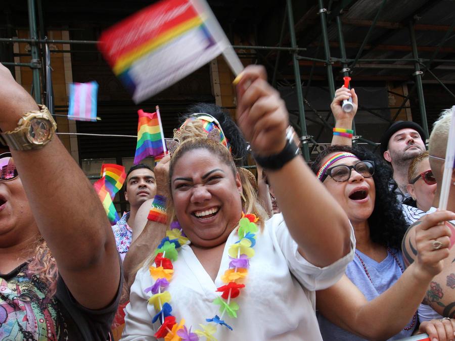 Desfile del orgullo gay en Nueva York en 2018