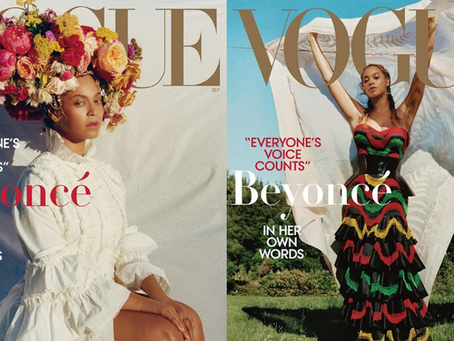 Beyoncé on the cover of Vogue's September Issue 2018