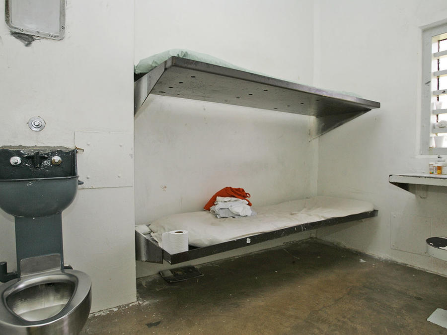 Imagen de una celda de mujeres en un centro correcional en Oklahoma.