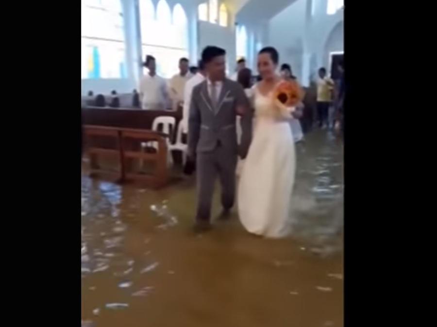 Boda inundada