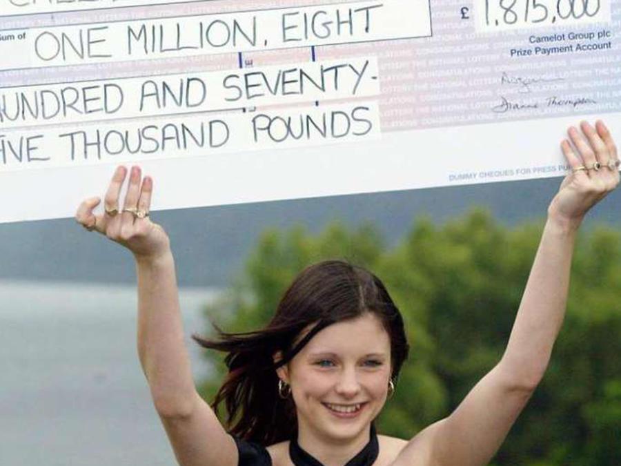 Callie Rogers ganó la lotería cuando tenía 16 años