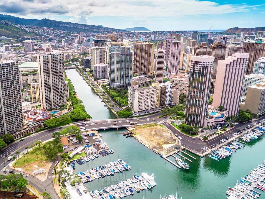Vista de la ciudad de Honolulu