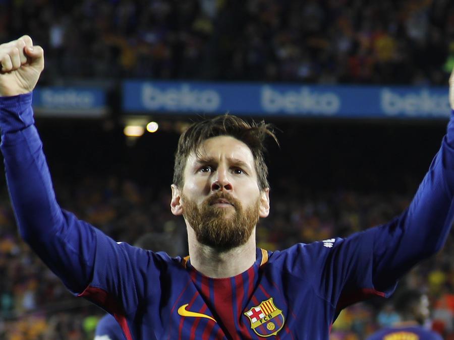 Messi, tras marcar ante el Real Madrid el pasado mayo.