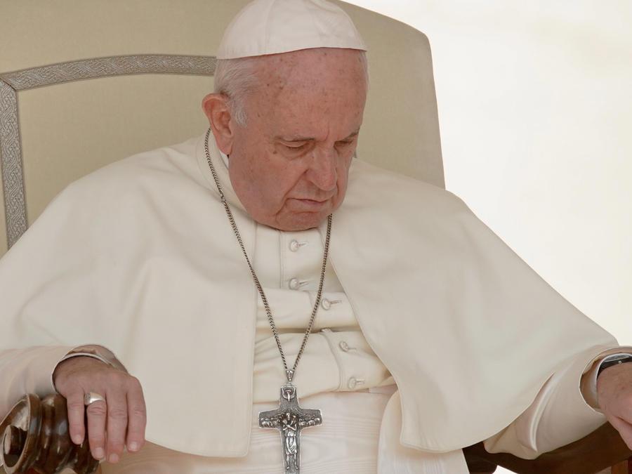El papa Francisco durante una misa en una imagen de archivo
