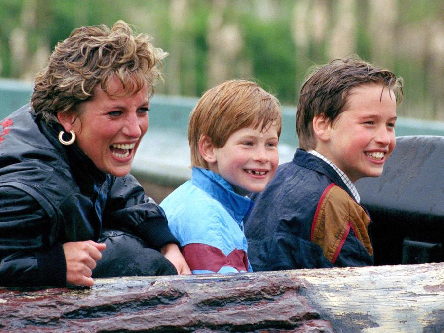 Diana, Harry y William