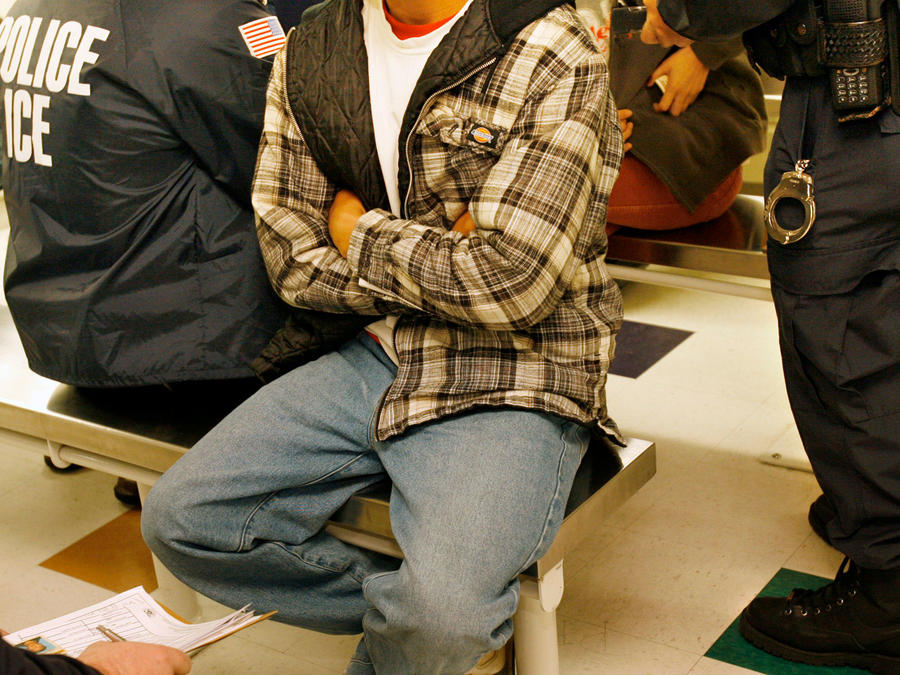 Detenciones en EEUU por parte de ICE en una imagen de archivo