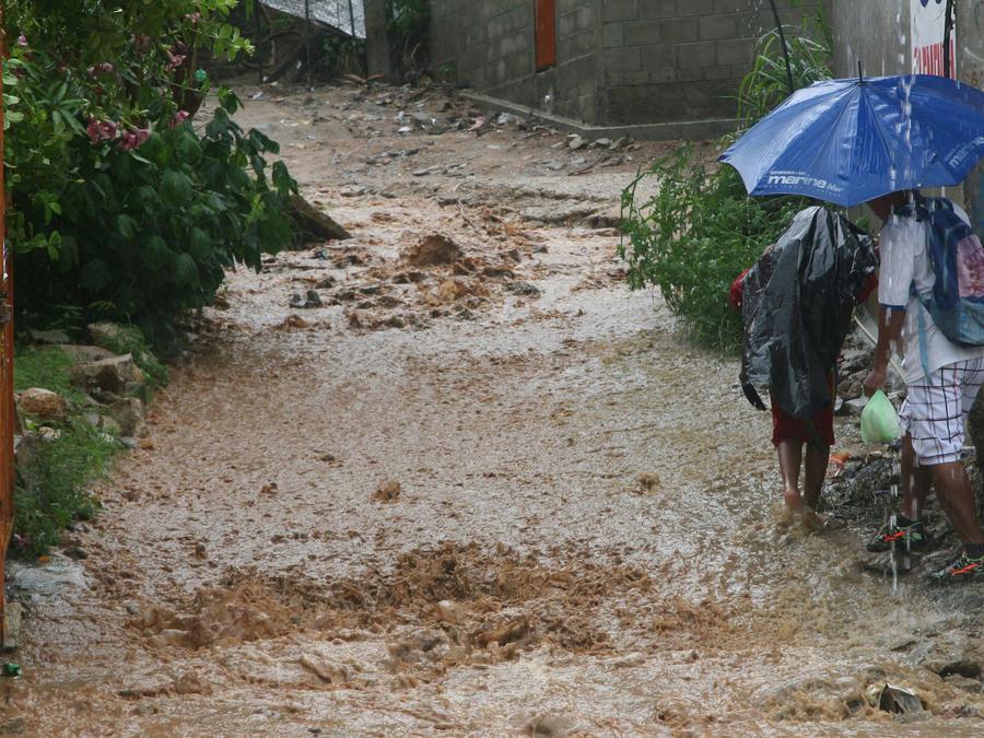 Fuertes lluvias en Acapulco, México, en una imagen de archivo