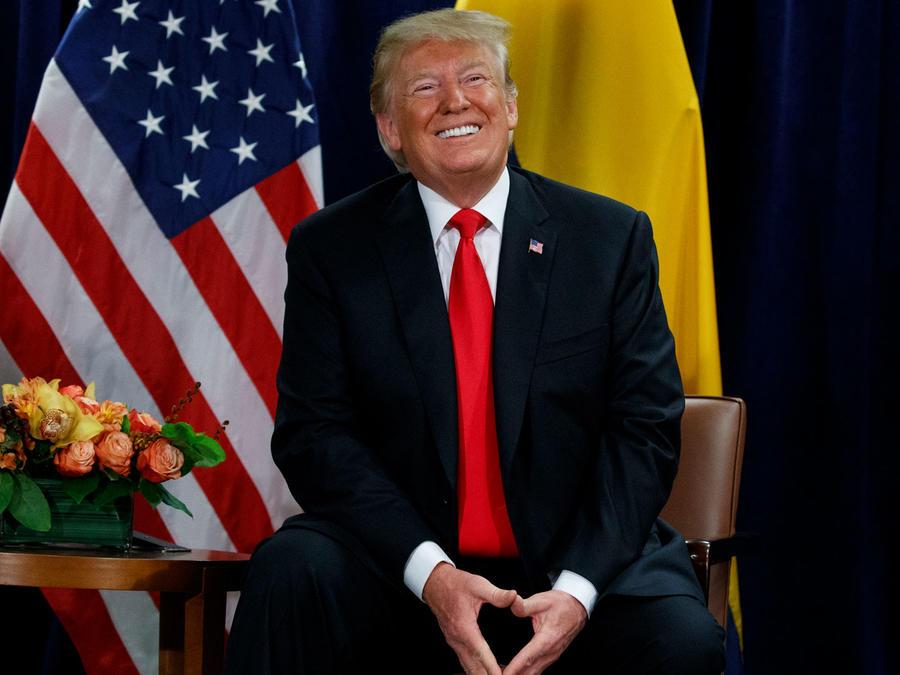 El presidente de EEUU, Donald Trump, hoy en la Asamblea General de la ONU