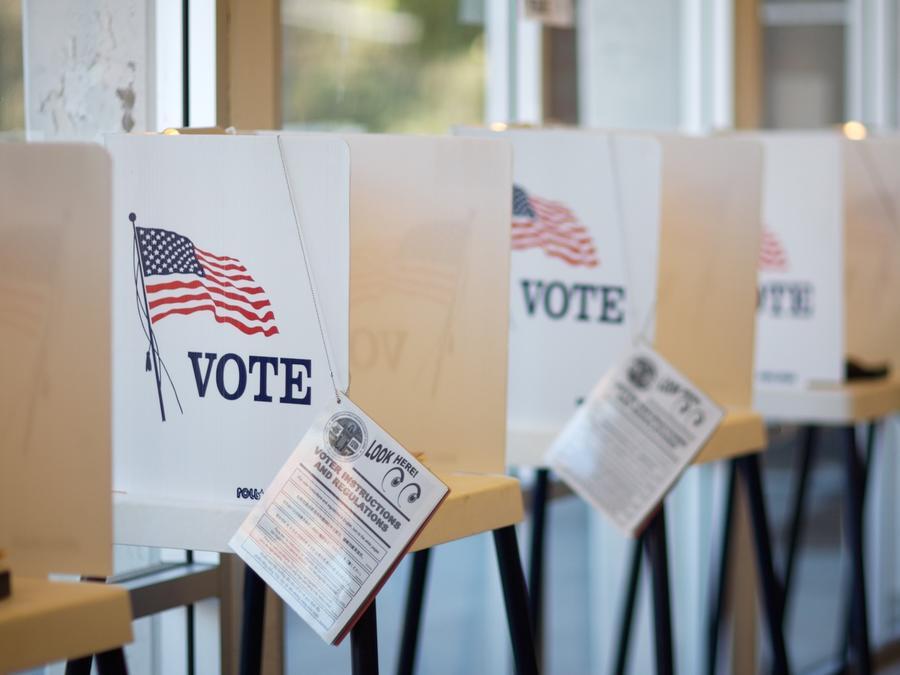Centro de votación en Estados Unidos