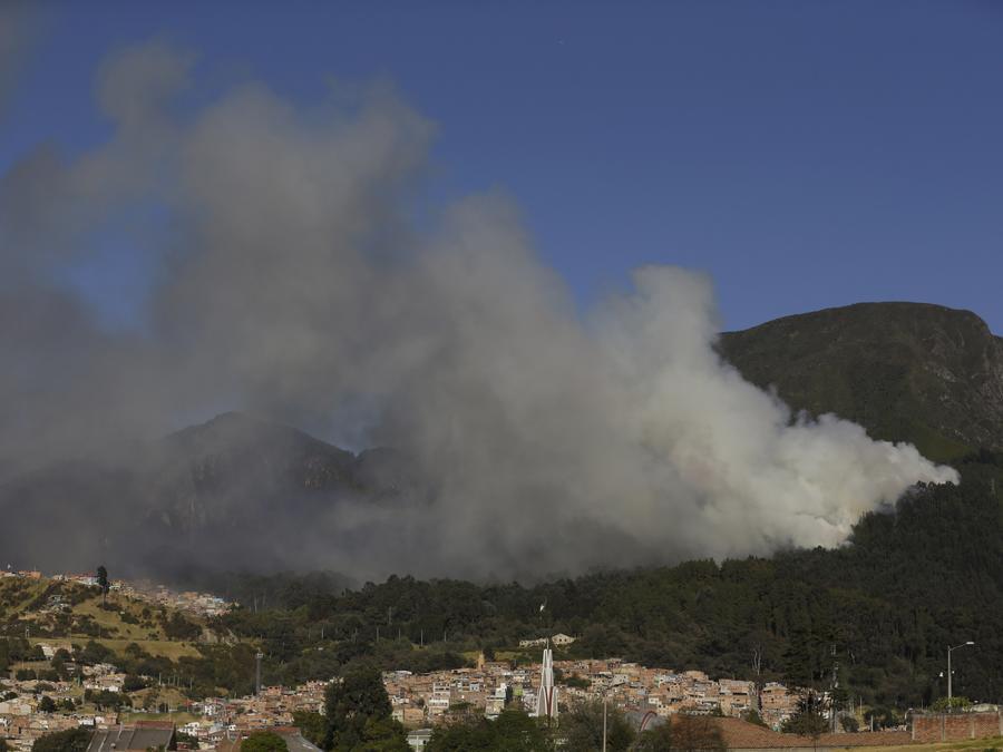Bogotá, Colombia, en febrero de 2016 cuando el fenómeno de El Niño hizo estragos en la región.