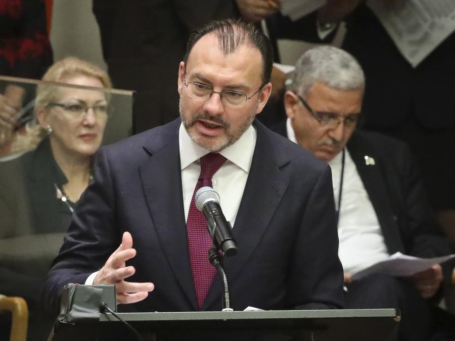 El canciller mexicano, Luis Videgaray, este jueves en la sede de la Organización de las Naciones Unidas