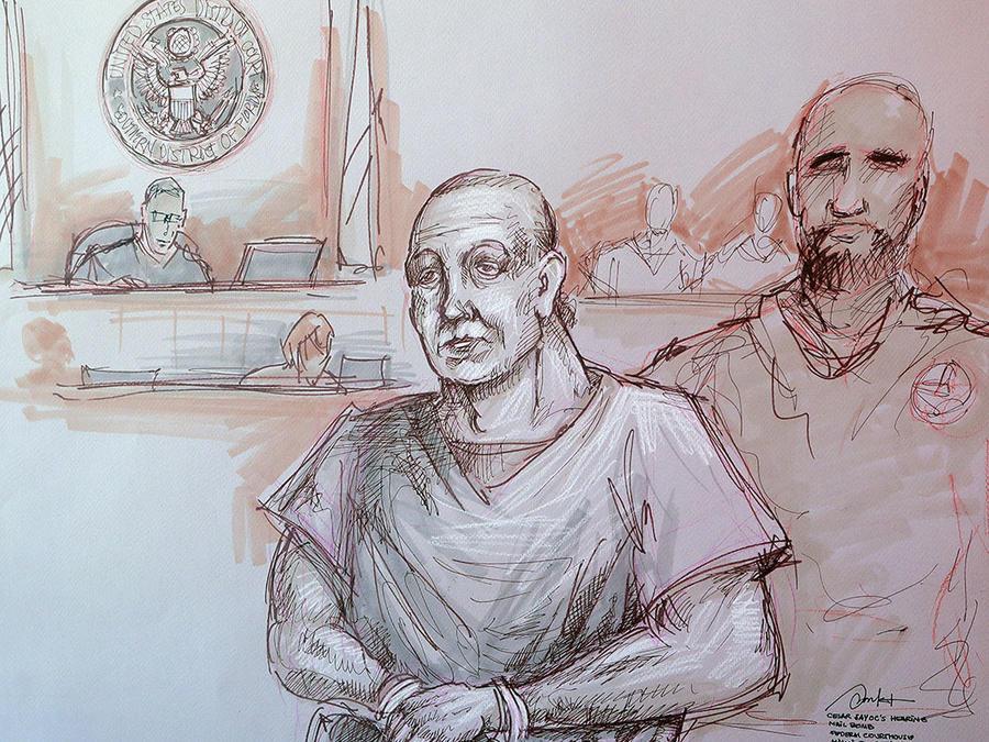 Cesar Sayoc, acusado de enviar 15 paquetes con explosivos, comparece en una corte de Miami.
