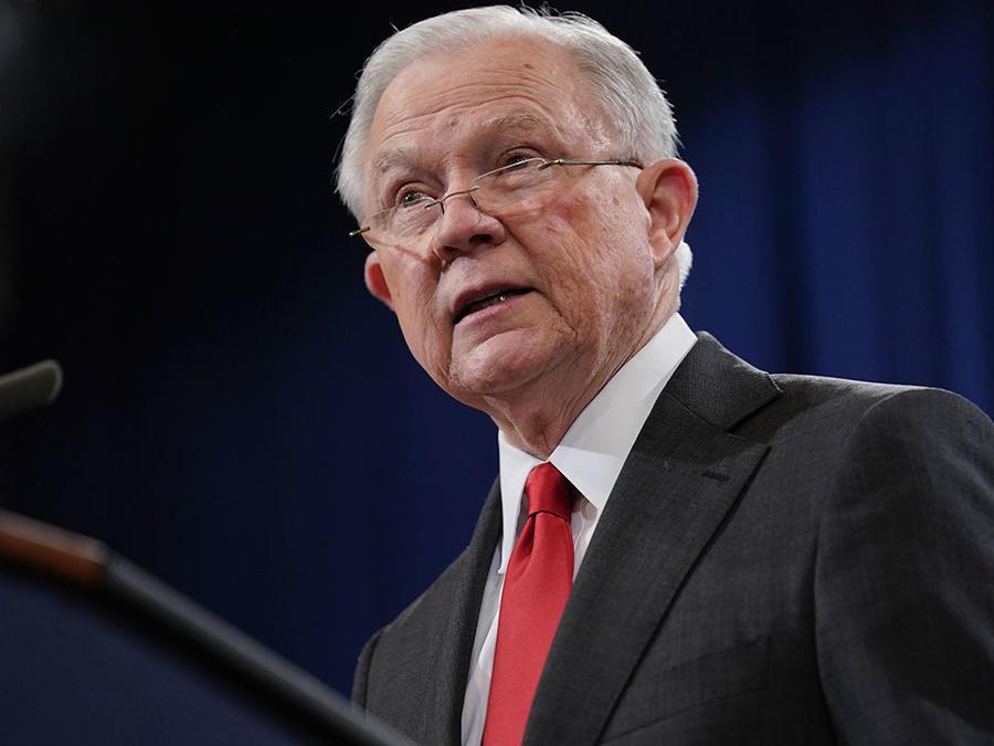 El fiscal general Jeff Sessions durante una conferencia en Washington.