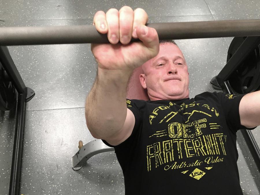 Ojeda, en una imagen de archivo en el gimnasio en mayo en Logan (Virginia Occidental).