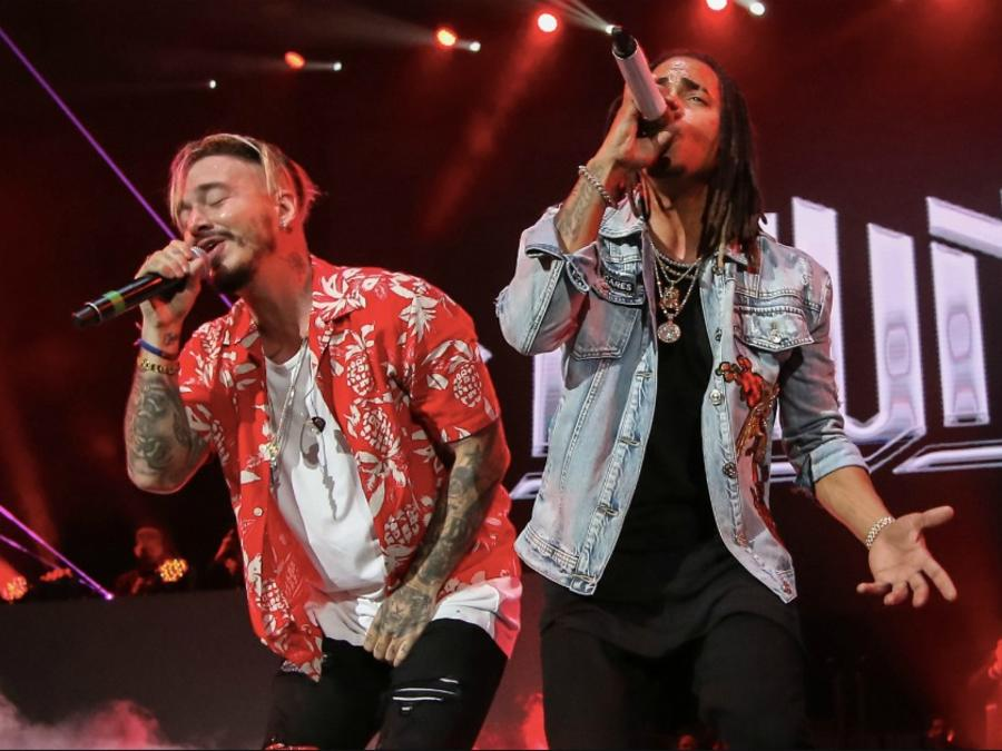 Balvin and Ozuna at concert