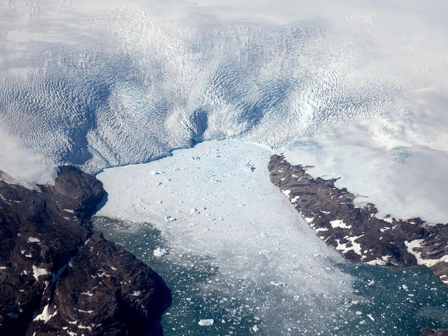 Glaciares en Groenlandia en una imagen de archivo