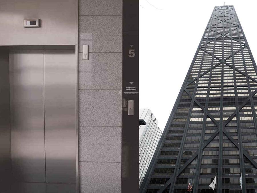 El incidente sucedió en el ascensor del John Hancock Center, uno de los edificios más altos de Chicago. (Foto ilustrativa)
