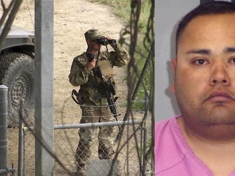Imagen de archivo de un miembro de la Guardia Nacional en el Río Grande en 2014. A la derecha, Luis Carlos Ontiveros.