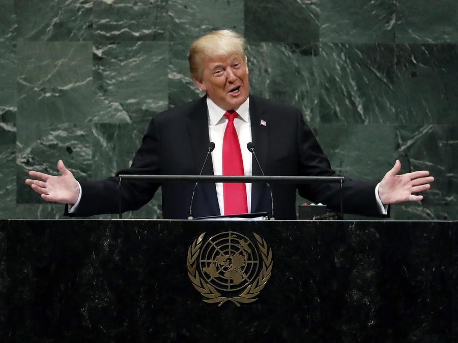 Donald TrumpTrump, en su discurso ante la Asamblea General de la ONU el pasado 25 de septiembre.