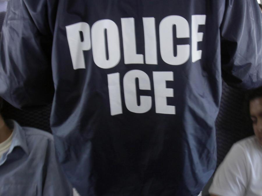 Imagen de archivo de un avión de ICE para el traslado de inmigrantes para su deportación.