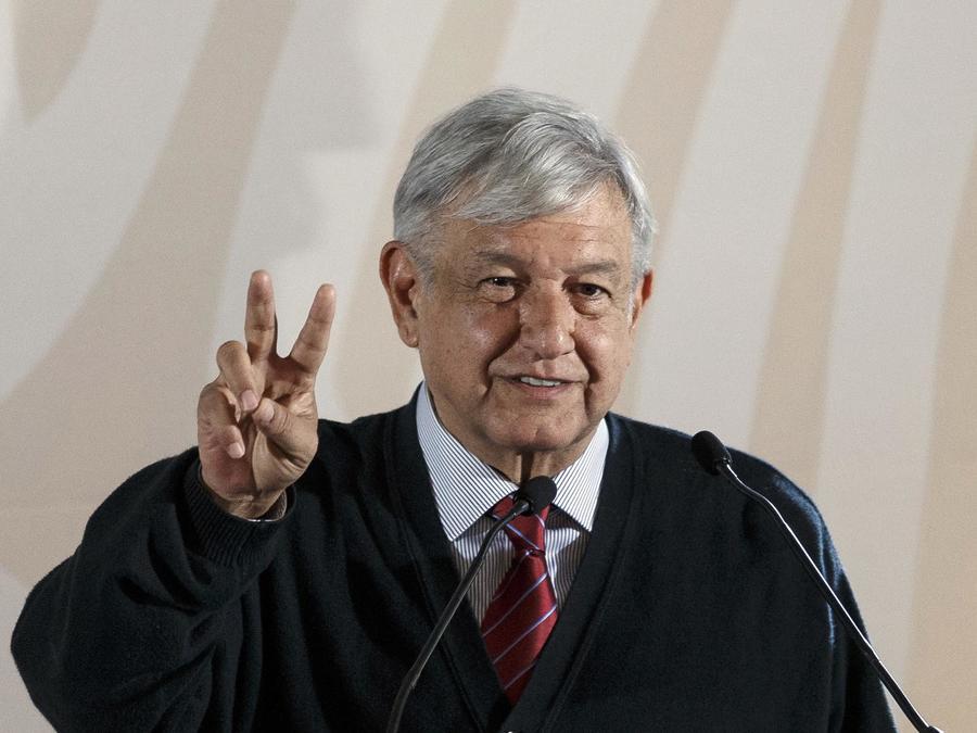 El presidente de México, Andrés Manuel López Obrador, en Tijuana el 6 de enero de 2019