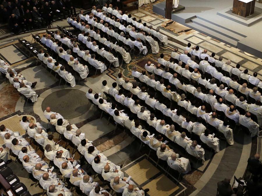 Misa de jesuitas celebrada el 3 de enero de 2014 en Roma