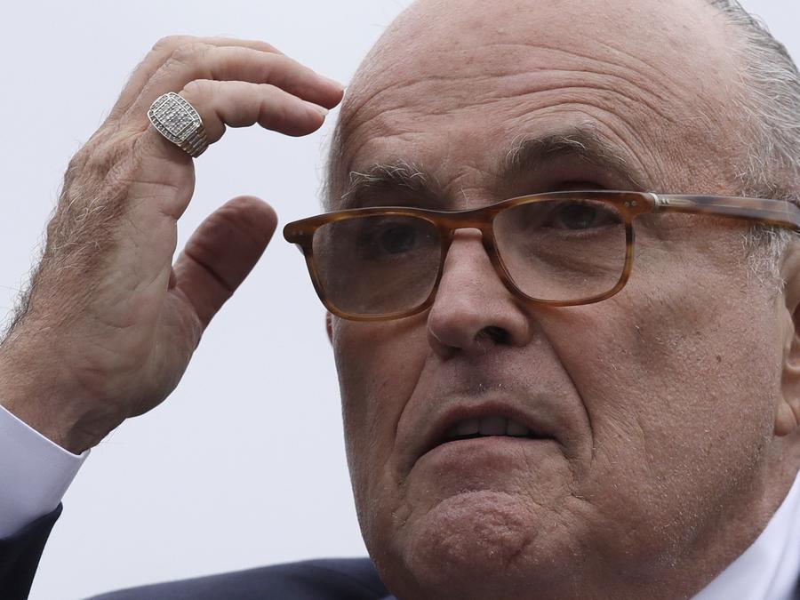 Rudolph Giuliani, ex alcalde de Nueva York y actualmente el abogado personal del presidente, Donald Trump,